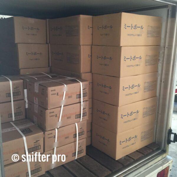 千葉県で冷凍食品配送のチャーター