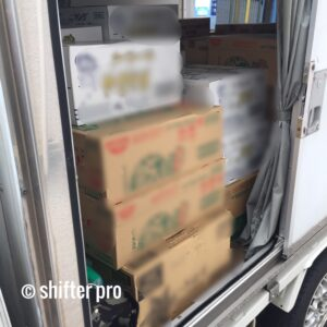 乾麺の配送チャーター
